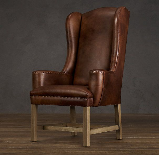 belfort wingback leather dining chair madison house furniture pin