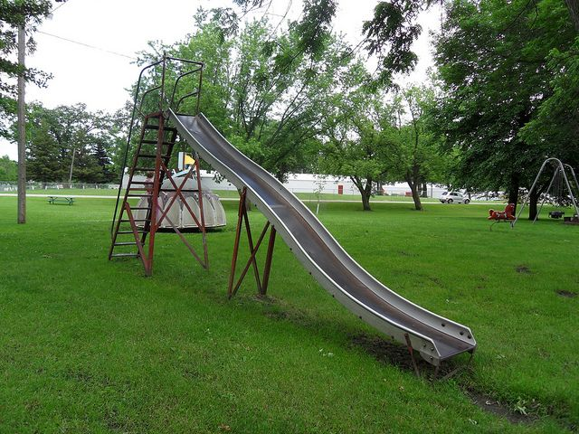 Used Metal Playground Equipment : Metal slide playground video search engine at