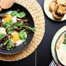 Mushroom and Bacon Breakfast Skillet! Breakfast Recipes — punchfork ...