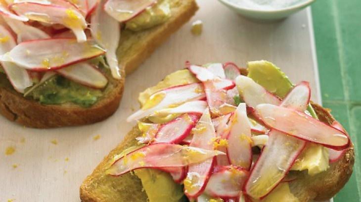 Radish and Avocado Sandwich | Sandwich ideas | Pinterest