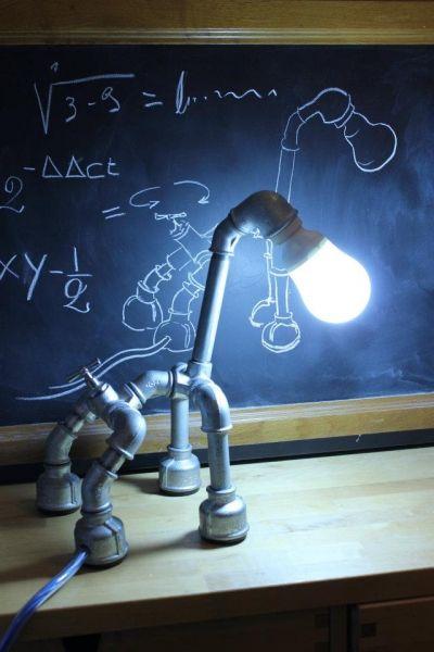 Lampade realizzate con tubi idraulici  Industrial Design  Pinterest