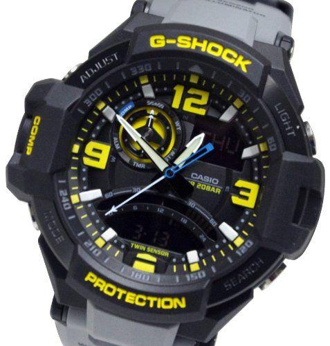 casio g-shock ga-1000-8a aviation series mens luxury watch - grey // one size