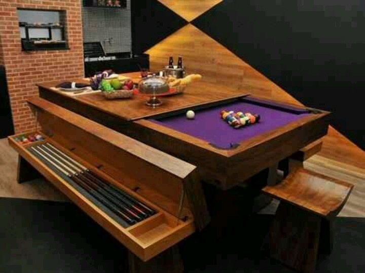 Dining pool table furniture pinterest for 7ft dining room table