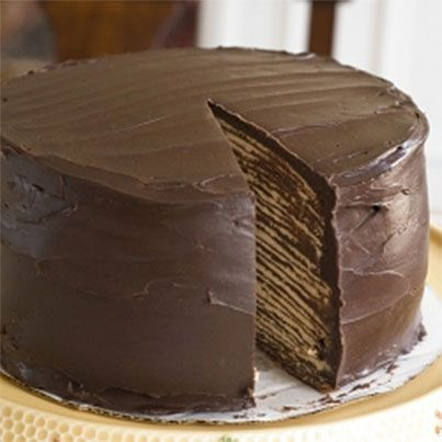 Dark Chocolate Crepe Cake | Yums Yums | Pinterest
