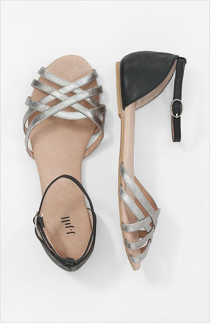 color block strappy sandals at J.Jill