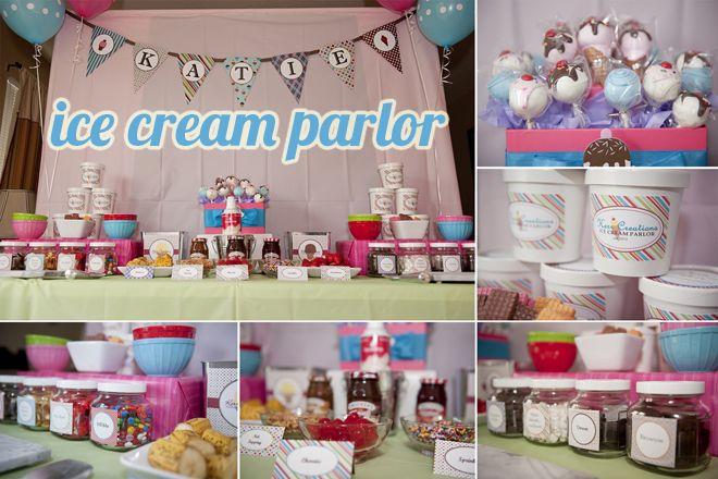 cute ice cream party