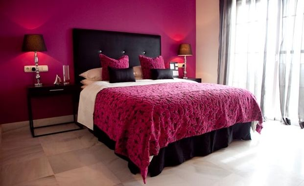 Black and pink bedroom sexy for the home pinterest for Bedroom ideas black and pink