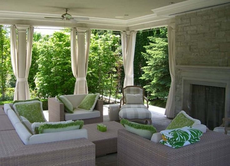 Outdoor living room i love covered porches pinterest for Designs for garden rooms