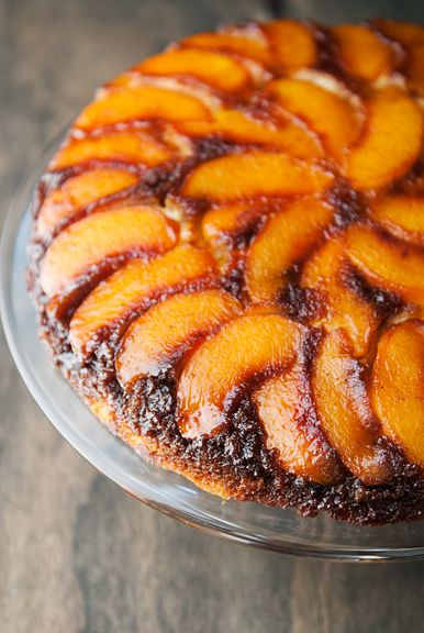 Peach upside down cake recipe. | Fruity | Pinterest