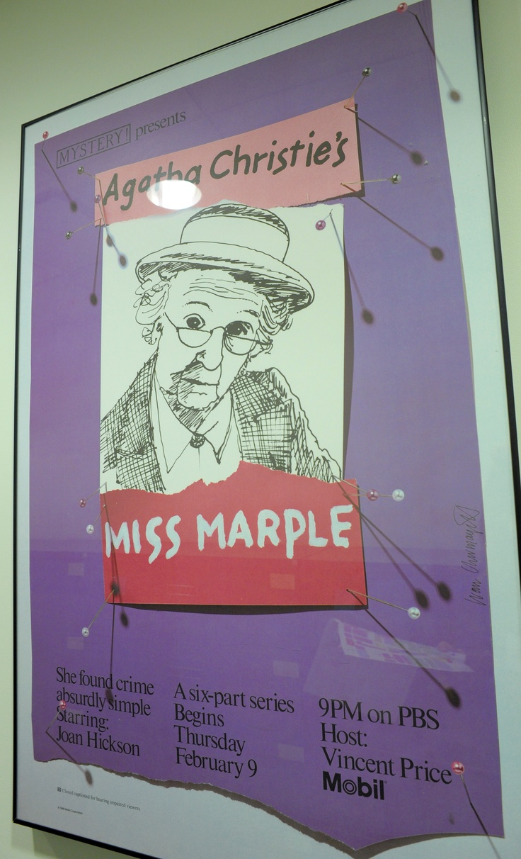 Miss Marple found crime absurdly simple. Hosted by Vincent Price (!)