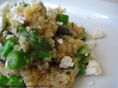 Lemon-Scented Quinoa with Asparagus | eggs on sunday