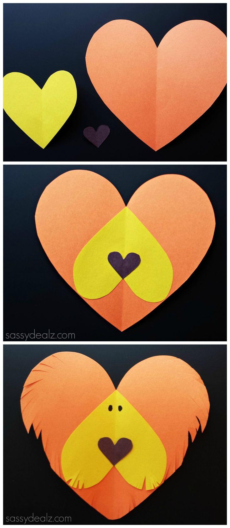 valentine heart lion