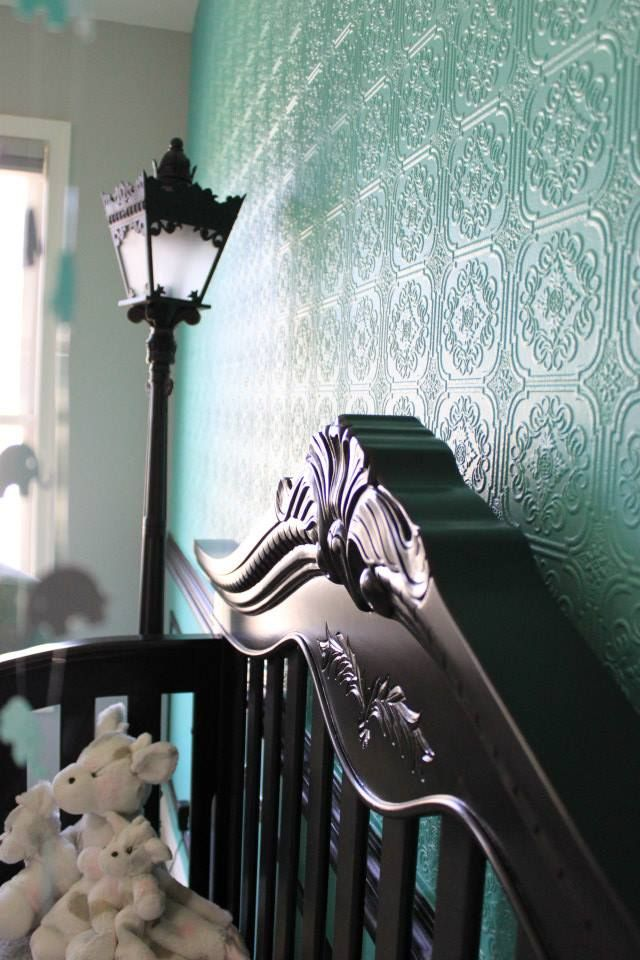 Paintable Wallpaper (from @Lowes) Nursery Accent Wall - love the texture!