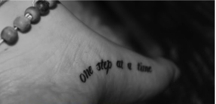 One step at a time tattoo tattoos for Tattoo one step at a time