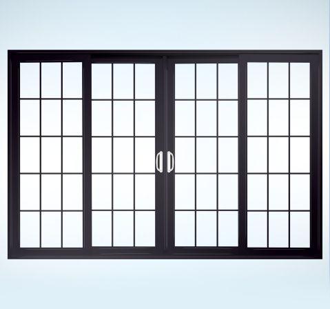 Jeld wen sliding french door 4 panel sliding barn doors for 4 panel sliding french doors