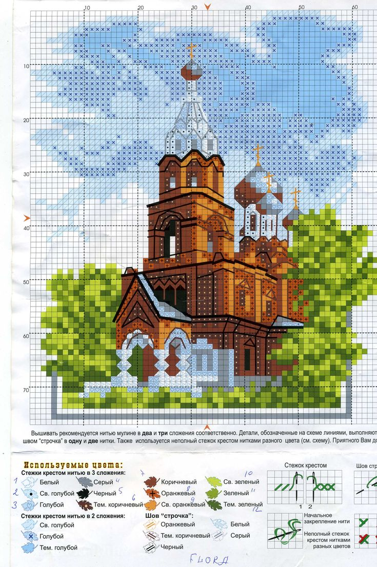 Собор монастырь церковь вышивка крестом