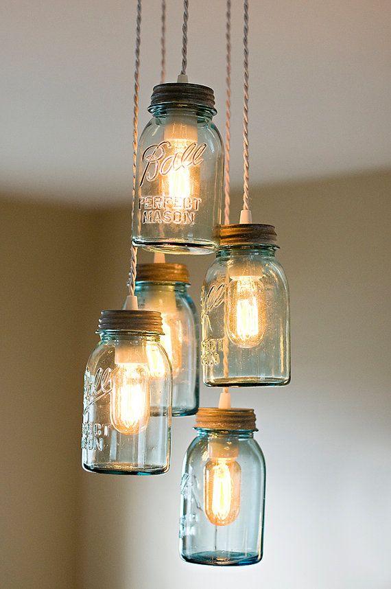 jar cluster pendant chandelier
