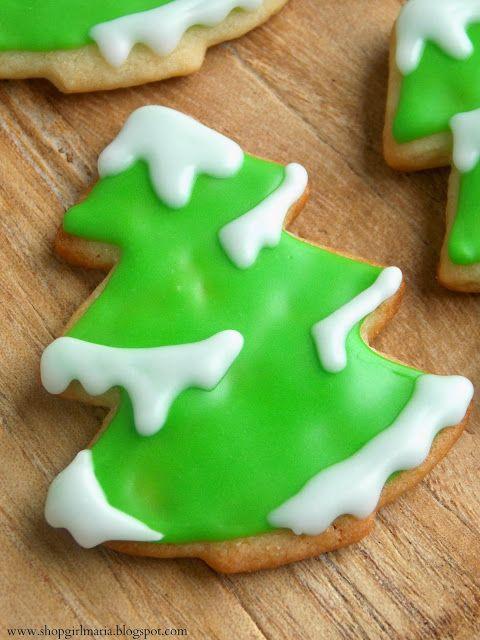 Shopgirl: Snowy Tree Sugar Cookies