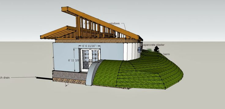 earth bermed clerestory house unique dwellings pinterest berm home designs efficient homes house plans and more