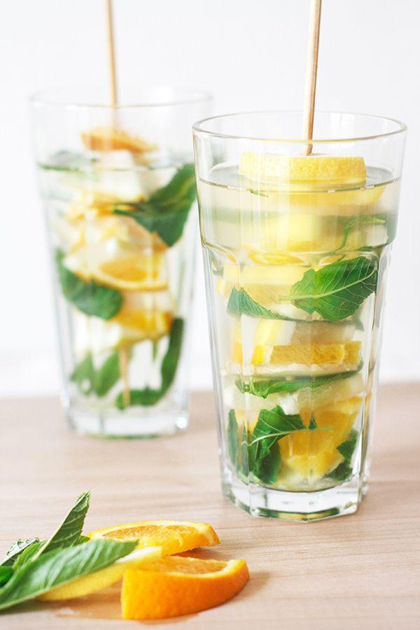 Citrus, Ginger & Mint Tea | Fig & Honey | Iced Tea | Pinterest