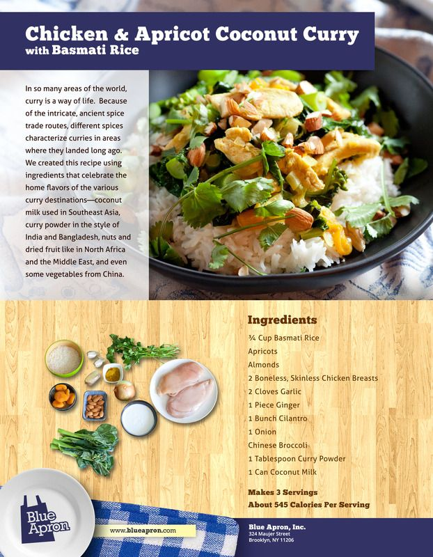 Chicken & Apricot Coconut Curry with Basmati Rice | Recipe