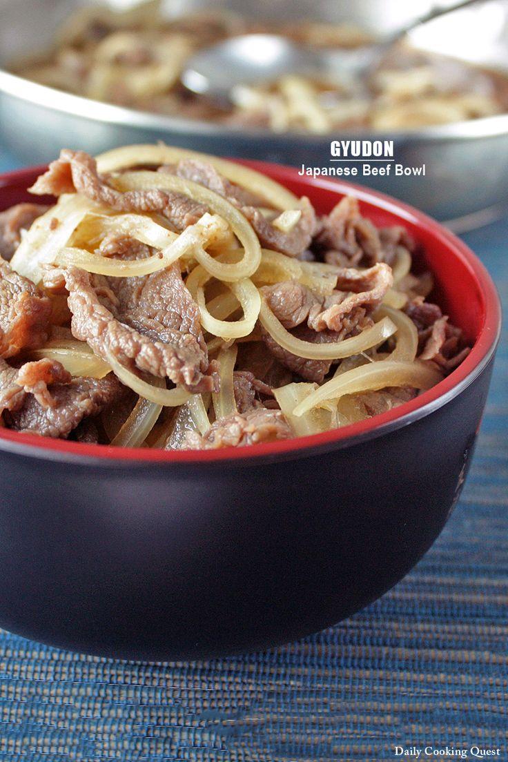 Gyudon – Japanese Beef Bowl | Asain | Pinterest