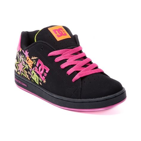 Womens DC Pixie Skate Shoe, Black Multi | Journeys Shoes