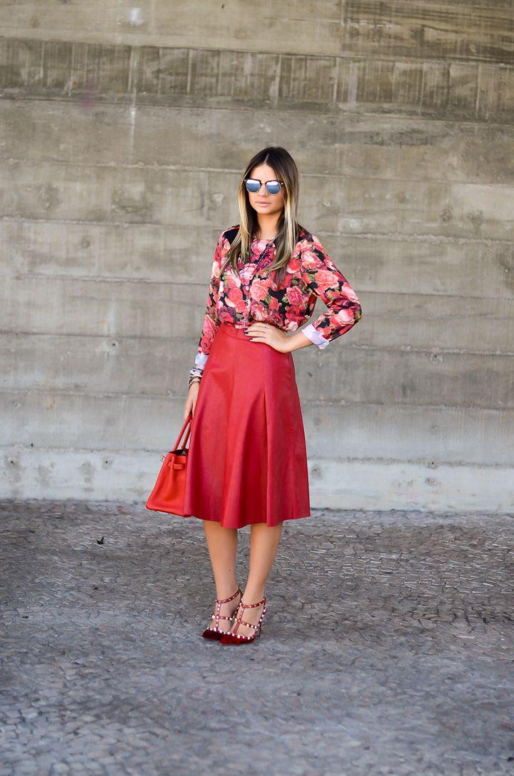 Meu look – Red! - Blog da Thássia