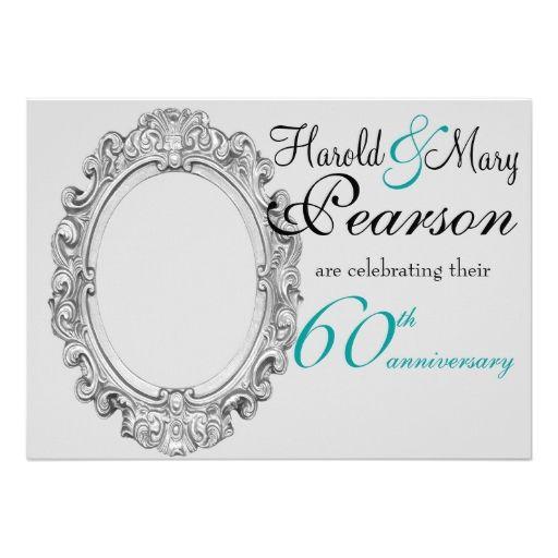 60th wedding anniversary invitation for Free printable 60th wedding anniversary invitations