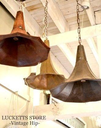 Great repurpose for vintage megaphones.