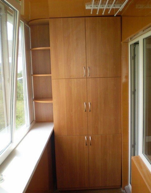 Встроенный шкаф своими руками на лоджии 976