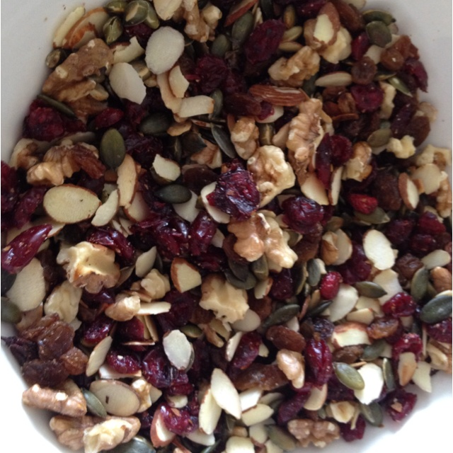 Special trail mix with yummy Ceres organic toasted pumpkin seeds!!