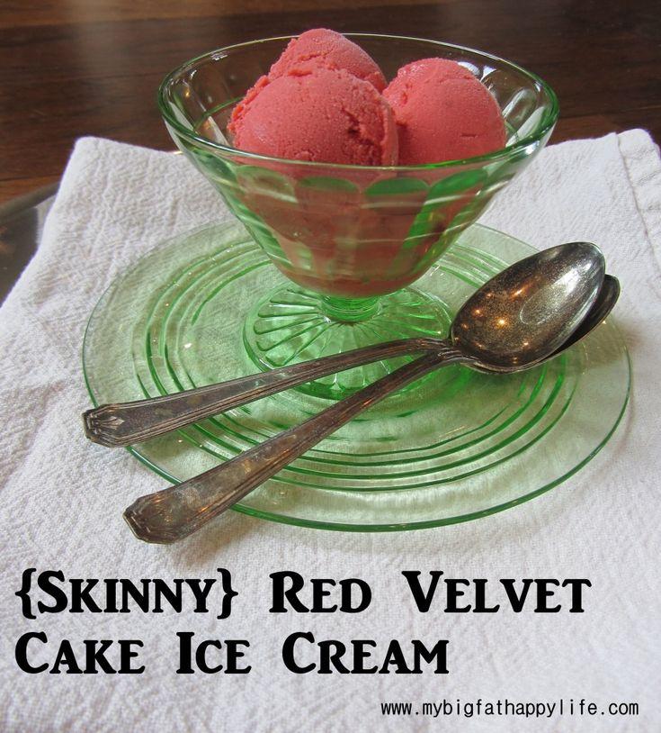 Skinny Red Velvet Cake Ice Cream | mybigfathappylife.com