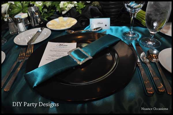 For teal and black wedding