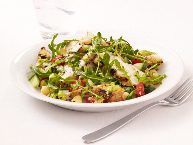 Grilled Chicken Salad with Gazpacho Dressing by Food Network