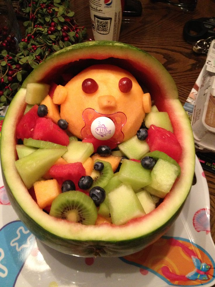 baby shower fruit salad ensalada de frutas pinterest