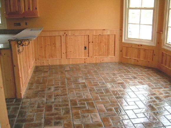 Rss brick flooring pic 6 kitchens pinterest for Brick kitchen floor ideas