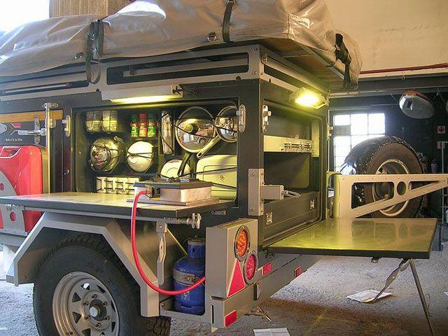 Homemade off road trailers car interior design for Camp trailer kitchen designs