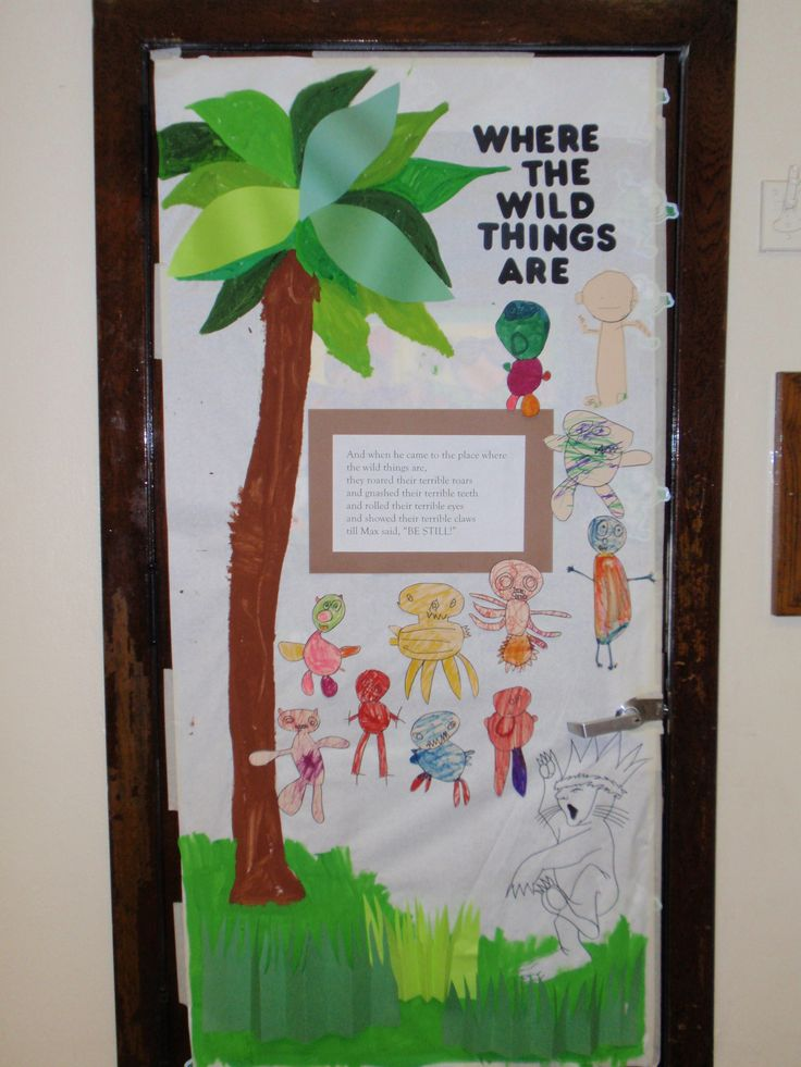 Where the wild things are favorite book classroom doors for Door decoration
