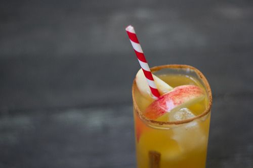 off this month with an apple cocktail recipe. [[MORE]] For one awesome ...