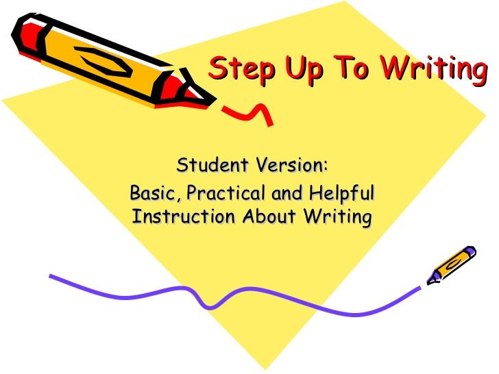 steps for writing a thesis