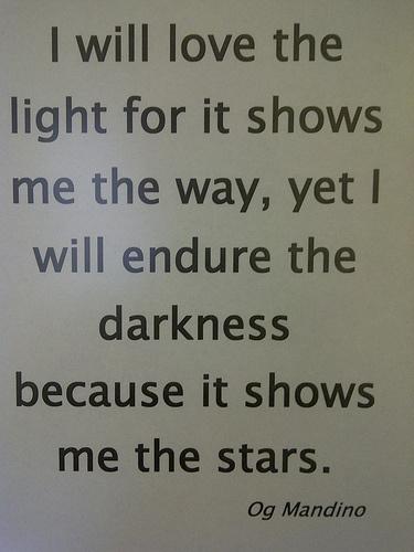 Og Mandino I Will Love the Light Quotes