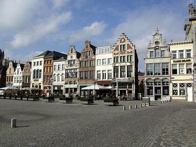 The Main Market Square in Mechelen