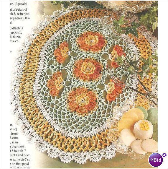 Crochet Patterns Nz : Crochet Doily Pattern Golden Glow Doily on eBid New Zealand
