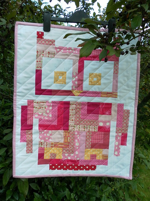 owl quilt -- but in blue!