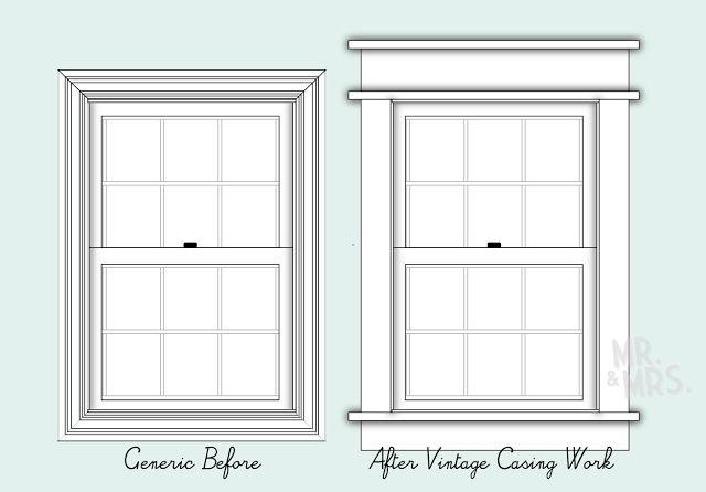 Diy Craftsman Style Window Trim Home Decor Ideas Pinterest