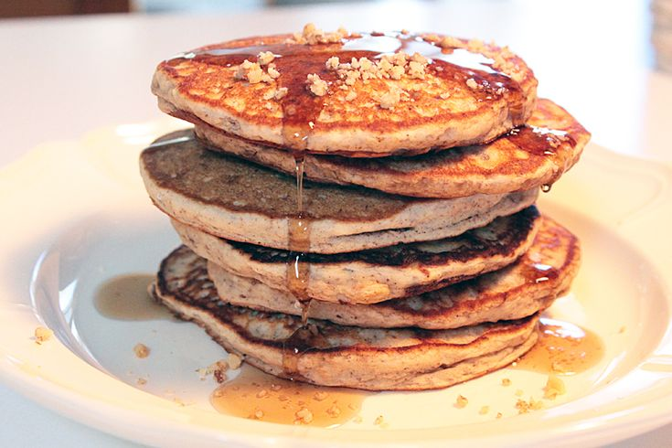 Banana Nut Pancakes: Banana nut bread - move over! These pancakes are ...