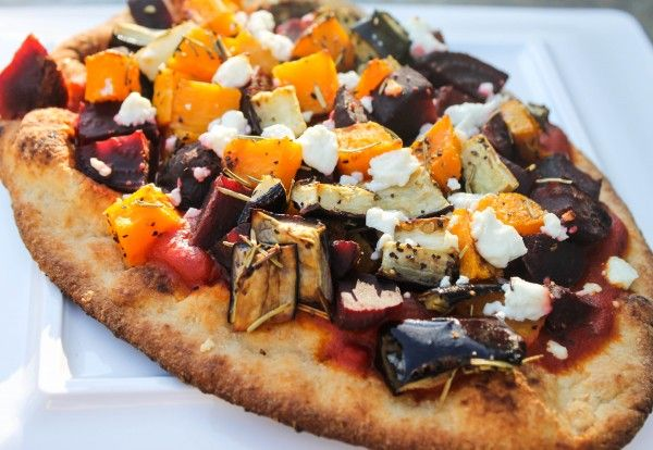 Beet, Butternut Squash and Goat Cheese Pizza