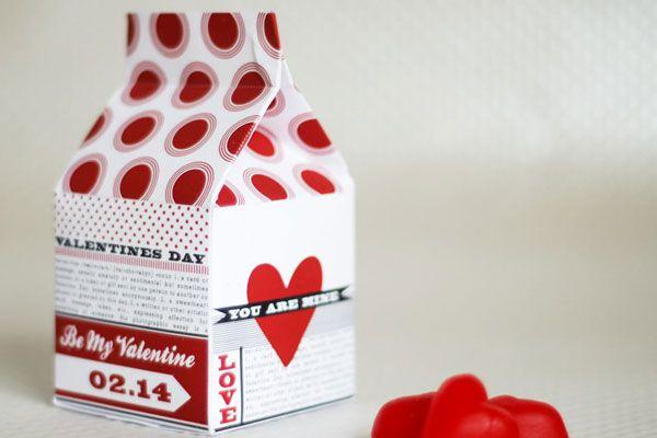Free Printable : Valentines milk carton