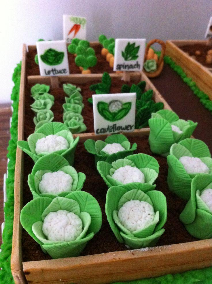 Cake Decorating Gardeners Road : Vegetable garden cake Cakes Pinterest